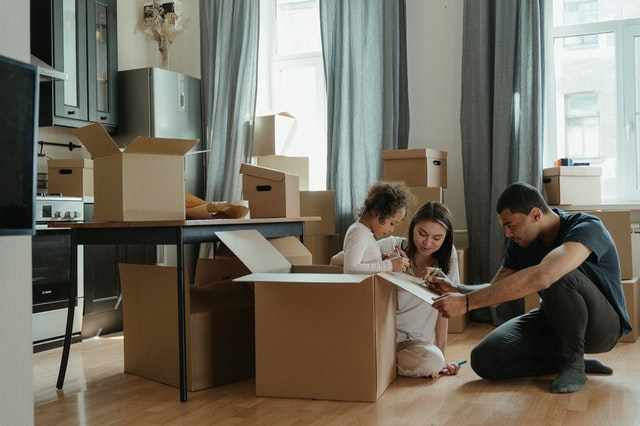 family moving homes
